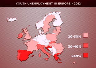Copy of 3 - Europe youth unemployment 2012