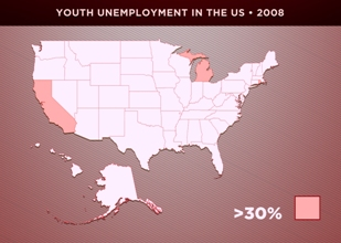 Copy of 4 - USA youth unemployment 2008