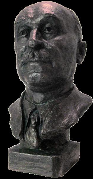 Monnet bust-Palais de la Paix, Den Haag