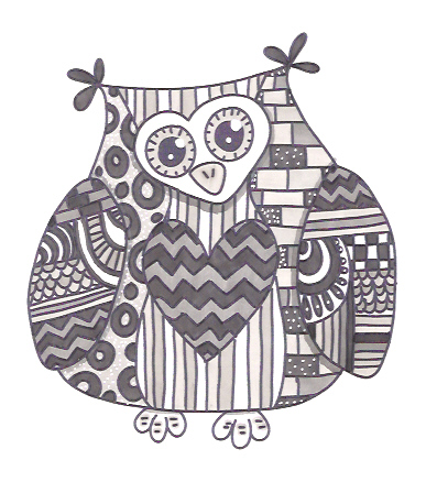hes my monochrome owl done used only cool grey tone promarkers i had to layer the cool grey 1 a few times as my scanner wont pick up - Cool Patterns To Colour In