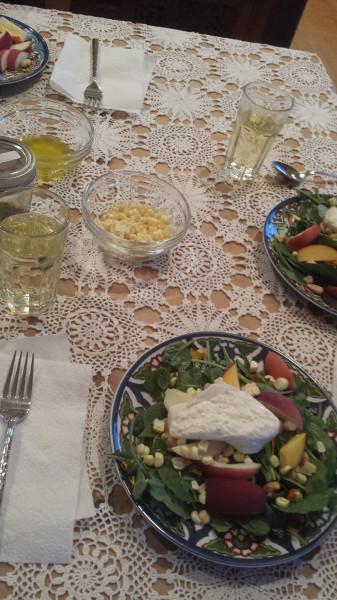 Halle burrata salad