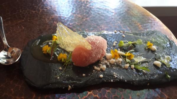 Asheville flower dessert
