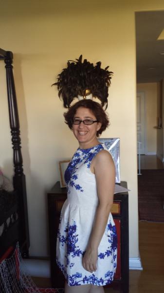 Delft dress side