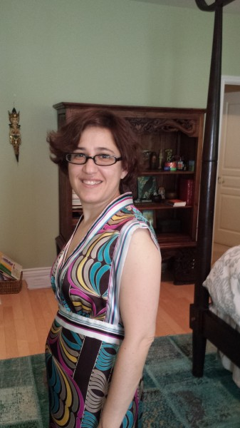 Paisley dress side
