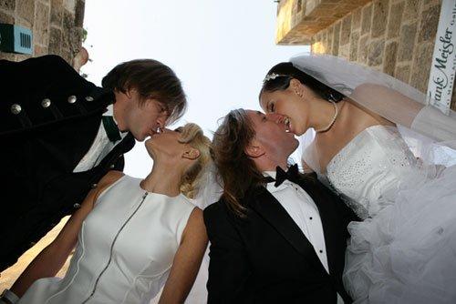 Групповое фото с женой