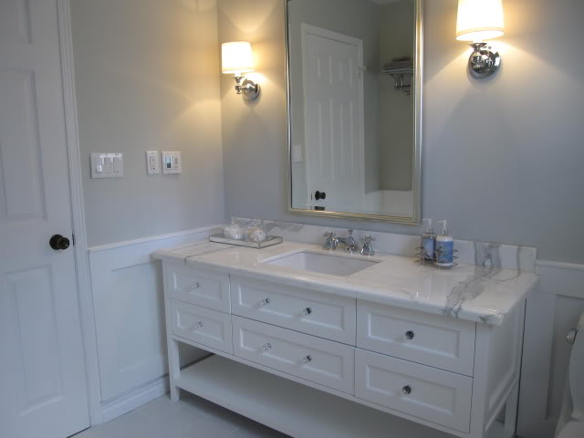 Gray paint bathroom