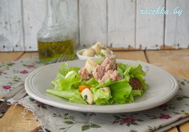 свинина и салат 014