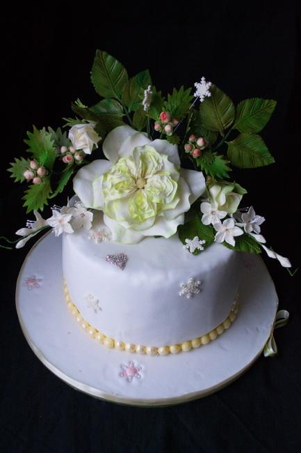 торт с цветами1
