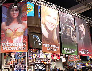 The WB Booth at Comic Con 06