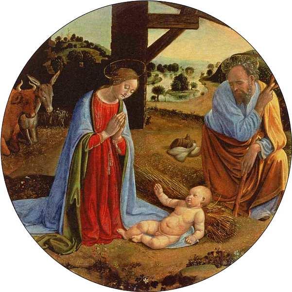 13-Козимо Росселли (1439–1507) Поклонение Младенцу. После 1490.jpg