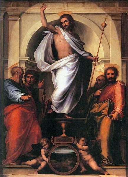 16-Фра Бартоломео. Христос с четырьмя евангелистами. 1516.jpg
