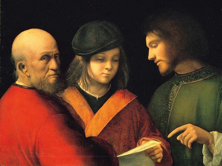 17-Джорджоне (Джорджо Барбарелли да Кастельфранко)() (1478–1510) Три возраста человека. Около 1500–1501.jpg