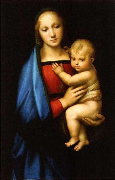 18-Рафаэль Санти (1483–1520) Мадонна с Младенцем (Мадонна дель Грандука). Около 1504–1505.jpg