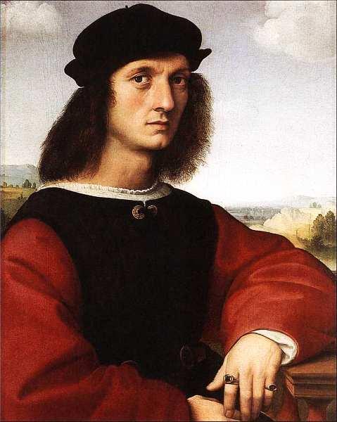 20-Рафаэль Санти (1483–1520) Портрет Аньоло Дони. Около 1506.jpg