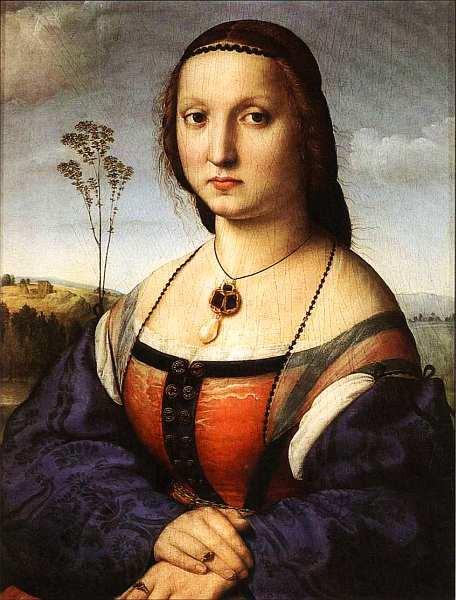 21-Рафаэль Санти (1483–1520) Портрет Маддалены Дони. Около 1506.jpg