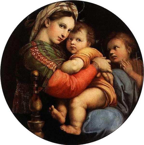 22-Рафаэль Санти (1483–1520) Мадонна в кресле. Около 1513–1514.jpg