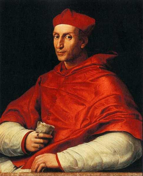 25-Рафаэль Санти и помощники (1483–1520) Портрет кардинала Биббиены. Около 1516.jpg