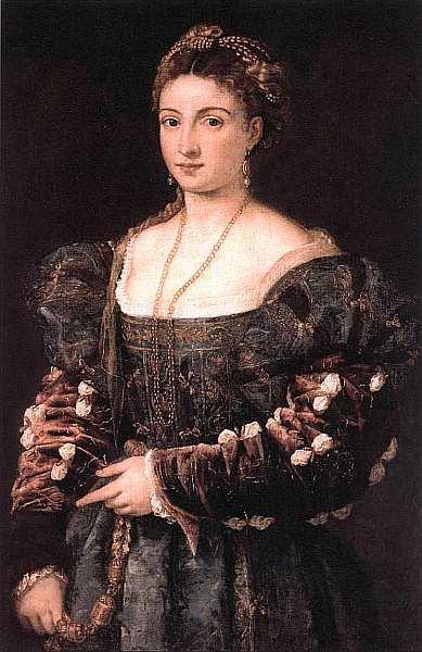 31-Тициан Вечеллио (около 1488–1576) Женский портрет («La bella»). Около 1536.jpg