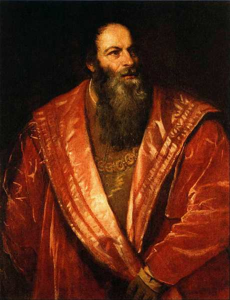33-Тициан Вечеллио (около 1488–1576) Портрет Пьетро Аретино 1545.jpg