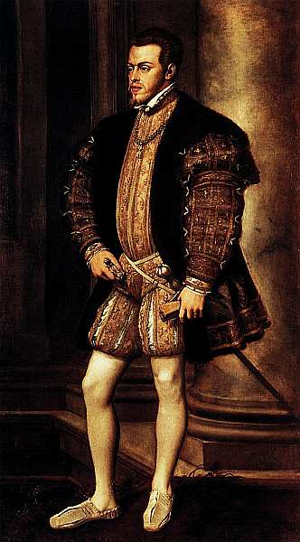 34-Тициан Вечеллио и помощники (около 1488–1576) Портрет короля Филиппа II. Около 1550.jpg