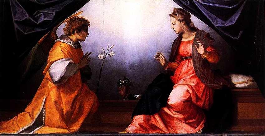 38-Андреа дель Сарто (1486–1531) Благовещение. Около 1528.jpg