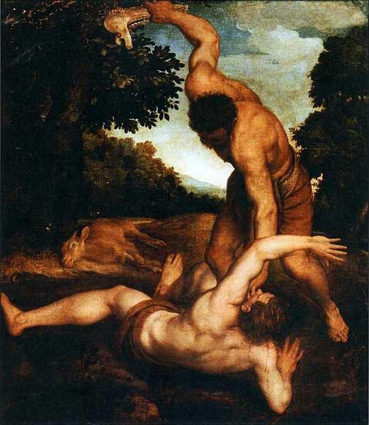 40-Андреа Скьявоне (Андреа Мельдолла) (15101515-1563) Каин и Авель. Около 1542.jpg