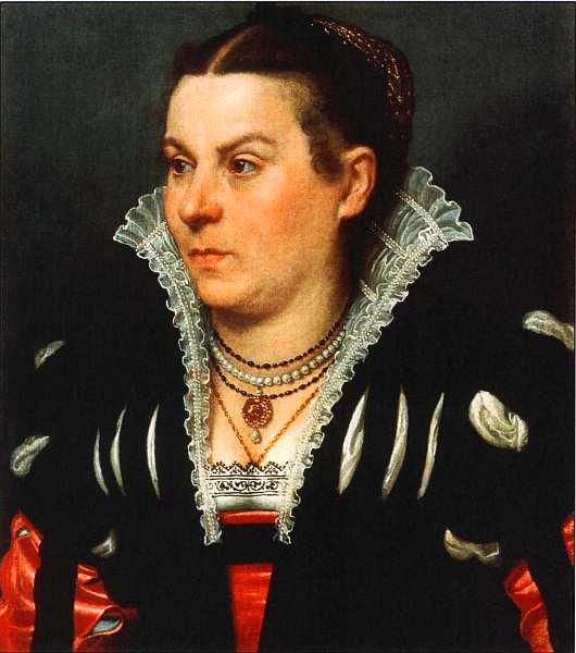 42-Джованни Баттиста Морони (около 1529–1578) Портрет знатной дамы Около 1550.jpg