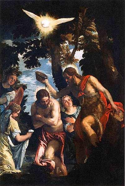 44-Паоло Веронезе (Паоло Кальяри) (1528–1588) Крещение Христа. Около 1583–1584.jpg