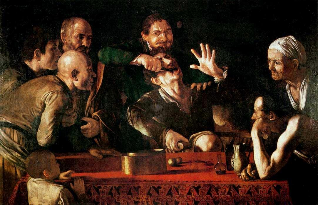 48-Неизвестный художник (приписывается Микеланджело Меризи да Караваджо) Зубодер. Около 1608–1610.jpg