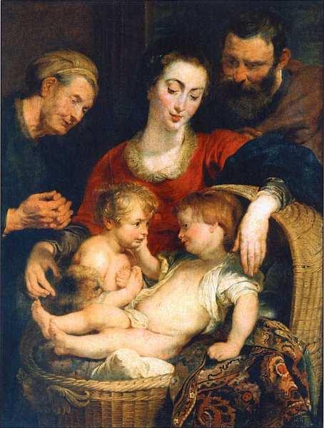 54-Питер Пауль Рубенс (1577–1640) Святое семейство с маленьким Иоанном Крестителем (Мадонна с корзиной). Около 1615.jpg