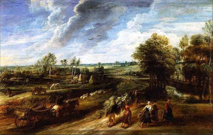 56-Питер Пауль Рубенс (1577–1640) Возвращение крестьян с поля. Около 1635.jpg