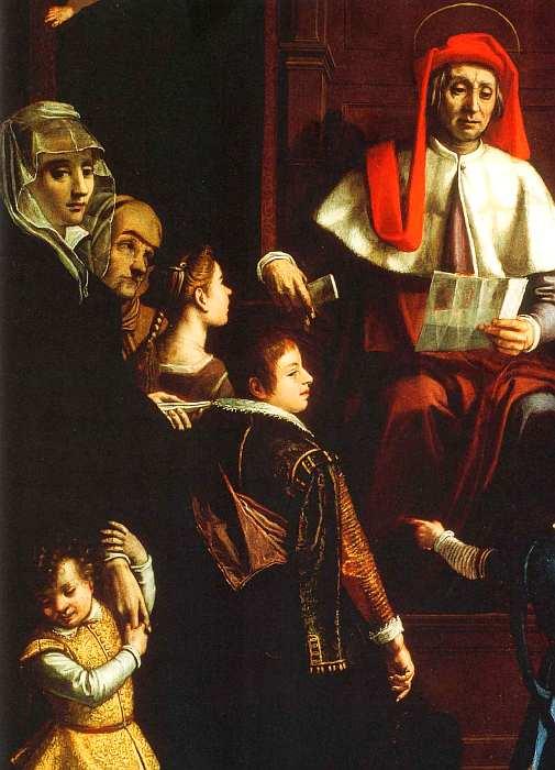 61-Якопо да Эмполи (Якопо Кименти) (1551–1640) Святой Иво, покровитель сирот и вдов 1616 (фрагмент).jpg