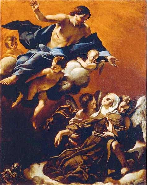 66-Джованни Ланфранко (1582–1647) Экстаз святой Маргариты Кортонской 1622.jpg
