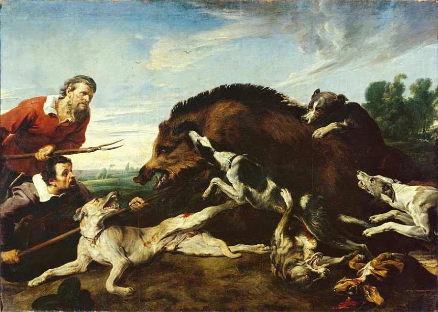 75-Франс Снейдерс (1579–1657) Охота на кабана. Около 1 640.jpg