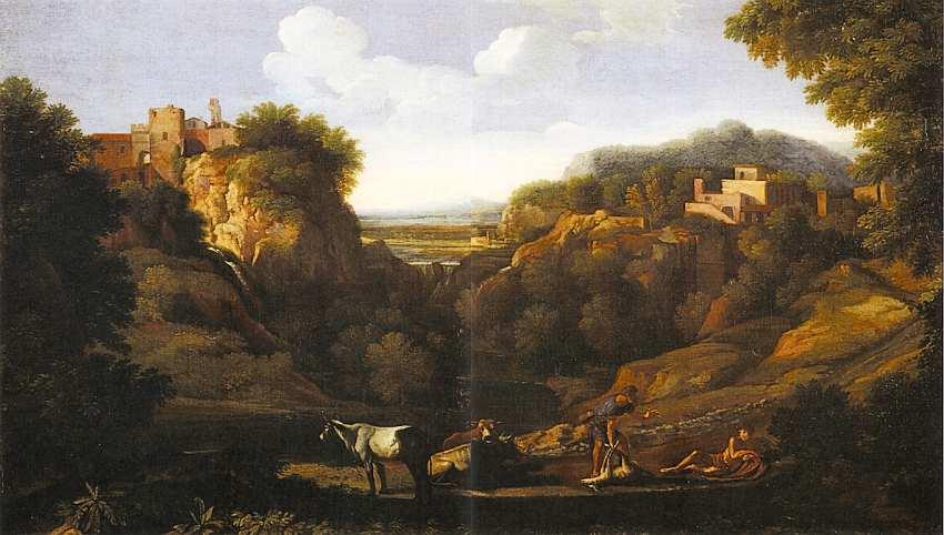 76-Гаспар Дюге (1615–1675) Пейзаж с пастухами и стадом. Без даты.jpg