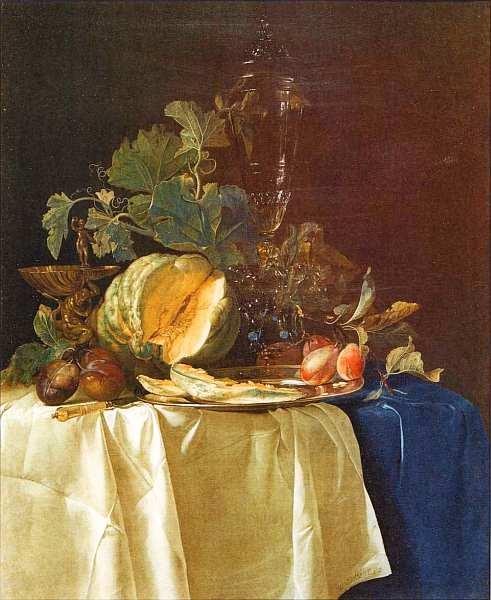 78-Виллем ван Алст (около 1626-около 1683) Натюрморт с фруктами и стеклянной вазой 1652.jpg