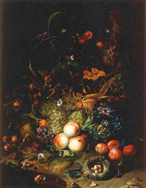 80-Рахель Рюйш (1664–1750) Натюрморт с фруктами и цветами 1716.jpg