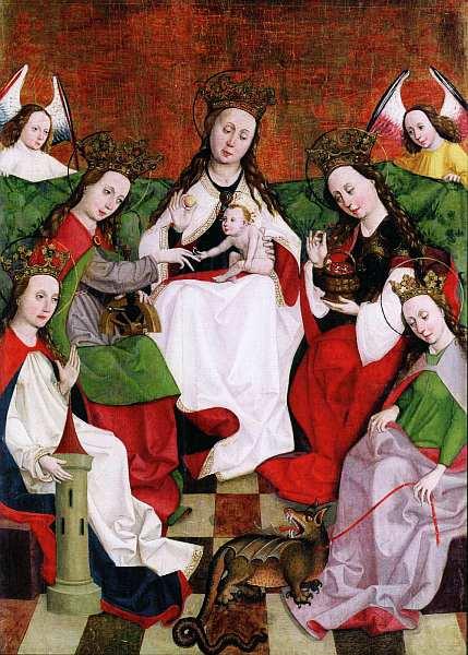 4-Мистическое обручение святой Екатерины. Около 1490.jpg