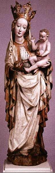 5-Мадонна Из церкви Святых Филиппа и Иакова, Топорец, Словакия. Около 1420.jpg