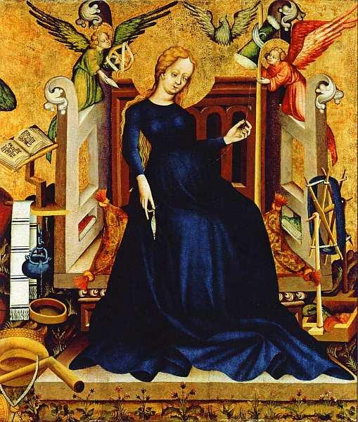 6-Мадонна с Младенцем во чреве. Из коллекции Баттьяни де Неметуйвар. Около 1410.jpg