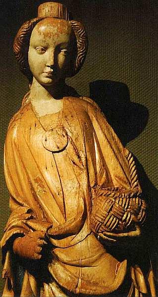 7-Святая Доротея. Фрагмент Из города Барка, Словакия. Около 1410–1420.jpg