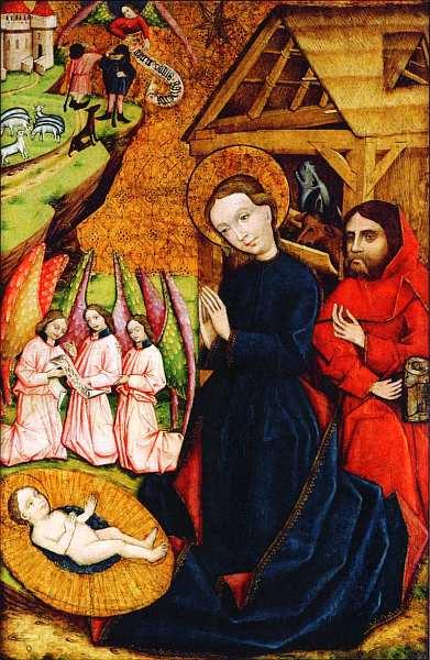 9-Рождество Боковая панель алтаря церкви Святого Матфея, Партизанска-Люпча, Словакия. Около 1450.jpg