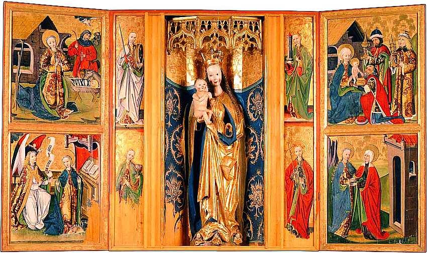 11-Алтарь Девы Марии Из Спишска, Словакия. Около 1480.jpg