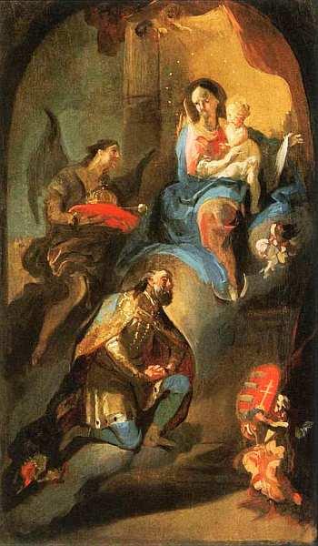 18-Последователь Франца Антона Маульберча Святой Стефан преподносит корону Деве Марии 1772–1774.jpg