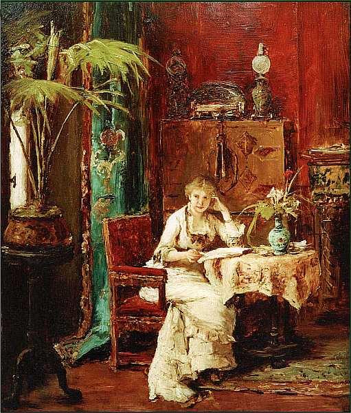 19-Михай Мункачи. Читающая женщина. 1880.jpg