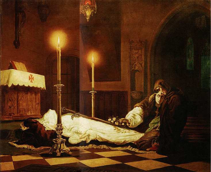 23-Виктор Мадарас (1830–1917) Оплакивание Ласло Хуньяди 1859.jpg