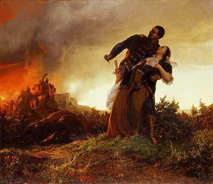 24-Берталан Секей (1835–1910) Миклош Добоци и его жена 1861.jpg