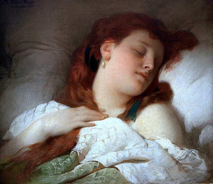 25-Шандор (Александр) Лицен-Майер (1839–1898) Спящая женщина 1867.jpg