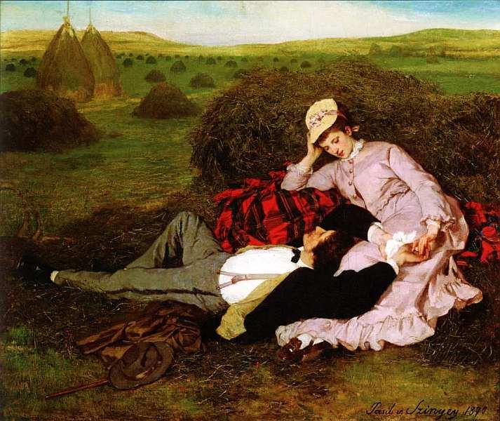 27-Пал Синьеи-Мерше (1845–1920) Влюбленные 1870.jpg
