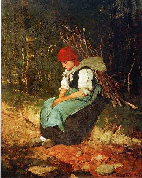 30-Михай Мункачи (1844–1900) Женщина с хворостом 1873.jpg